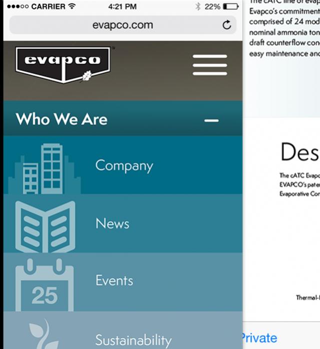Evapco Website Concept
